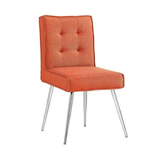 Multipurpose Orange Chair with 4 Button Back - (Set of 2)