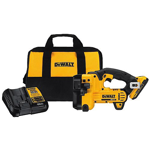 20V MAX Lithium-Ion Cordless Threaded Rod Cutter with Battery 2Ah, Charger and Contractor Bag
