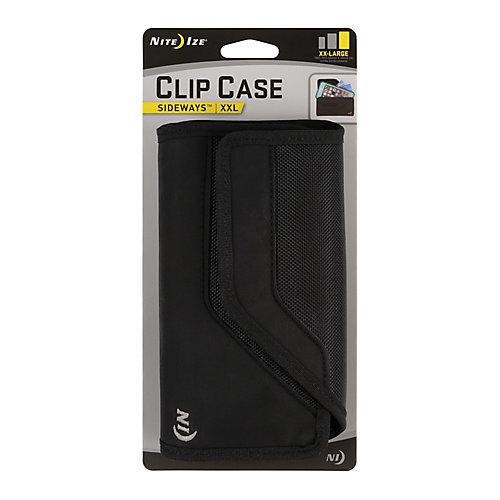 Étui robuste universel Clip Case Sideways - TTG - Noir
