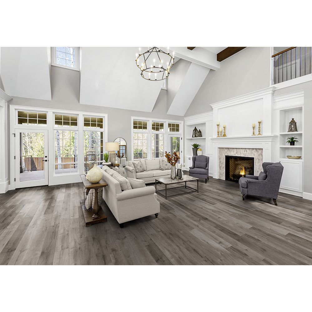 Home Decorators Collection Winter Oak 12 Mm Thick X 6 26 Inch Wide X 54 45 Inch Length Lam The Home Depot Canada