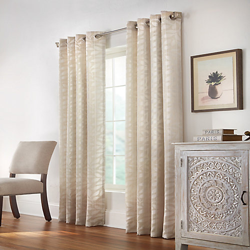 Alpha  Light Filtering Grommet Curtain 52 inches width X 95 inches length, Taupe