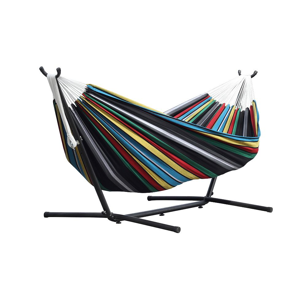 Vivere Rio Night 8 ft. Double Hammock with Stand