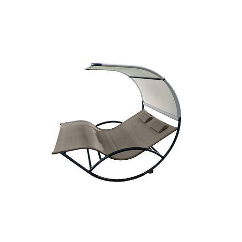 Double Chaise Rocker - Aluminum - Cocoa NEW