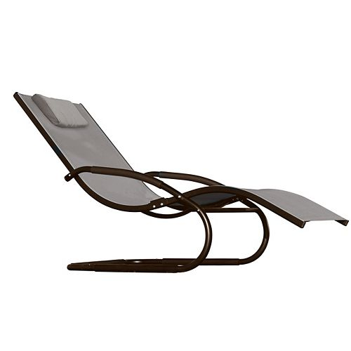 Wave Lounger - Aluminum - Cocoa NEW