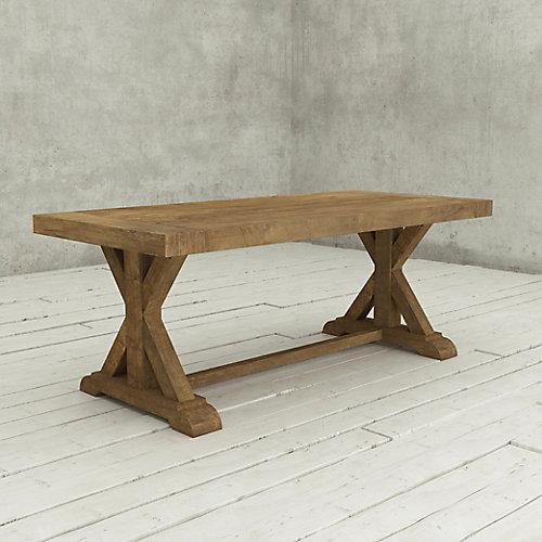 La table à tréteaux de 78 po Madera-Bois naturel