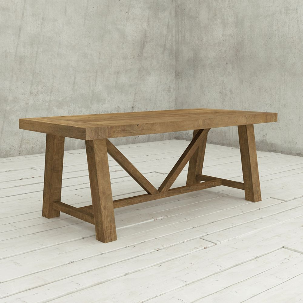 URBAN WOODCRAFT 78 Inch  Andora Dining Table Natural
