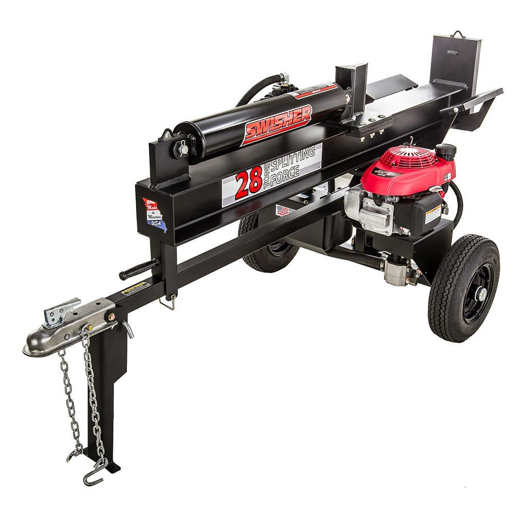 Swisher 28 Ton Direct Drive Log Splitter with 5.1 HP Honda Power