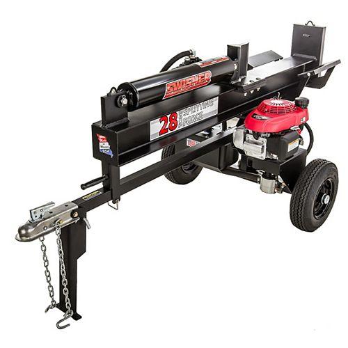 28 Ton Direct Drive Log Splitter with 5.1 HP Honda Power