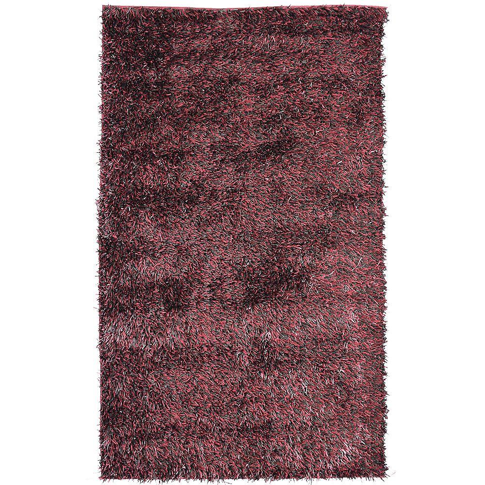 Lanart Rug Carpette, 8 pi x 10 pi, rectangulaire, rouge Ribbon