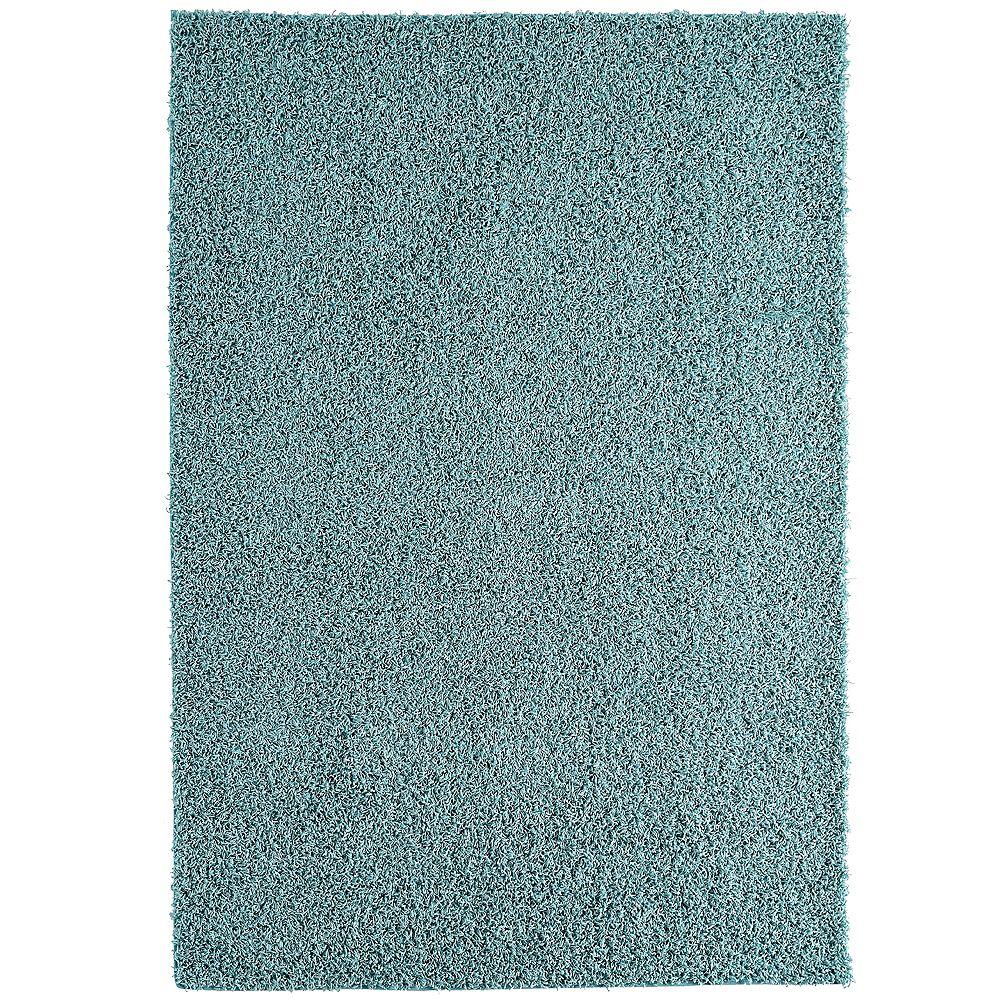Lanart Rug Carpette, 4 pi x 6 pi, à poils longs, rectangulaire, bleu Comfort