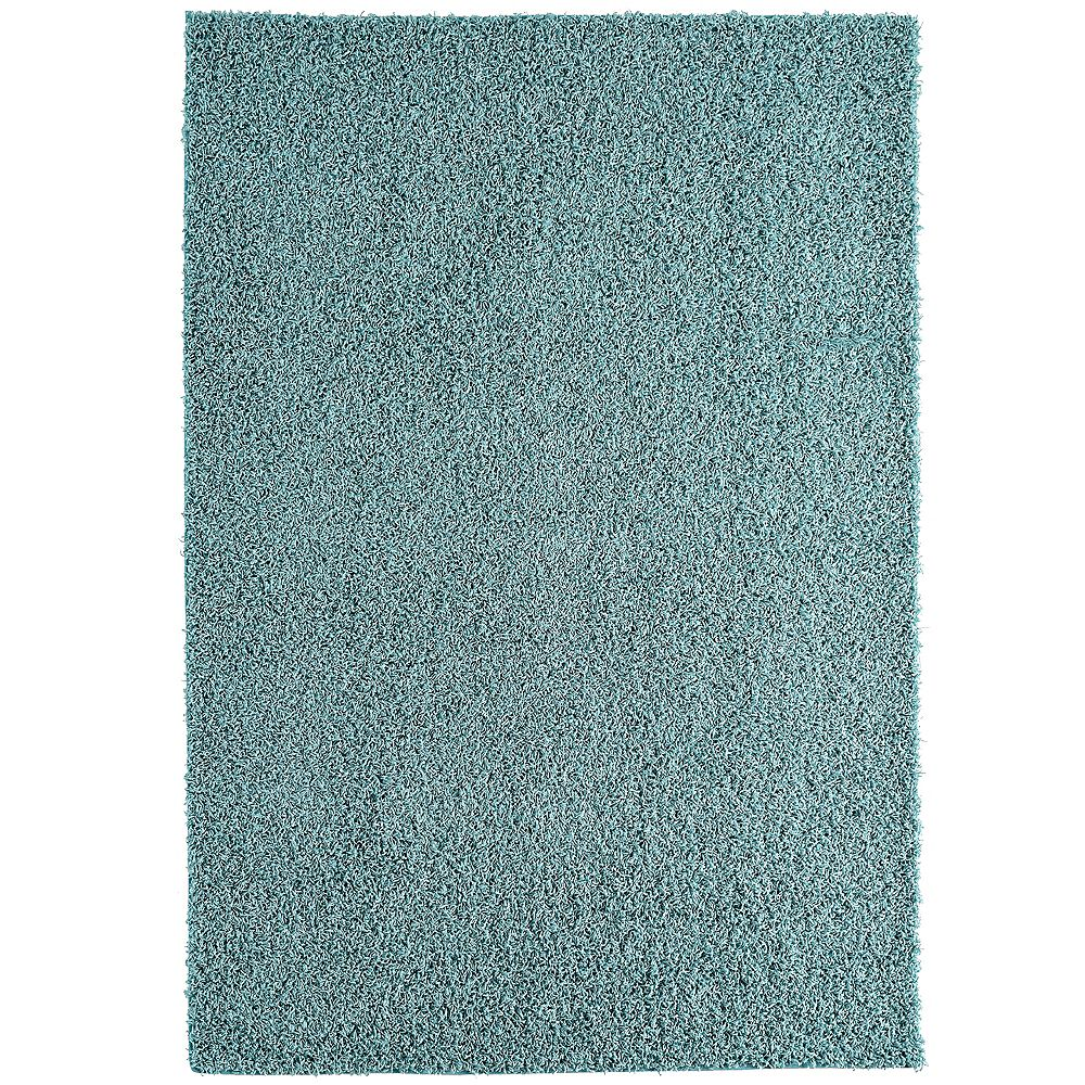 Lanart Rug Comfort Shag Blue 8 ft. x 10 ft. Rectangular Area Rug