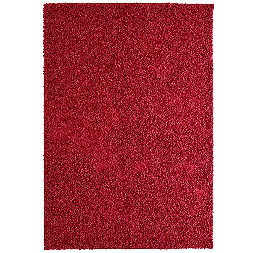 Comfort Shag Red 5 ft. x 7 ft. Rectangular Area Rug