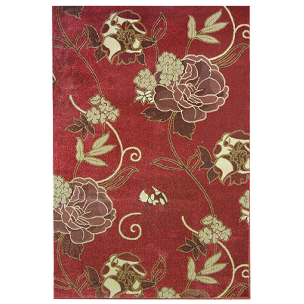 Lanart Rug Rouge Symphony Red 7 ft. 10-inch x 10 ft. Rectangular Area Rug