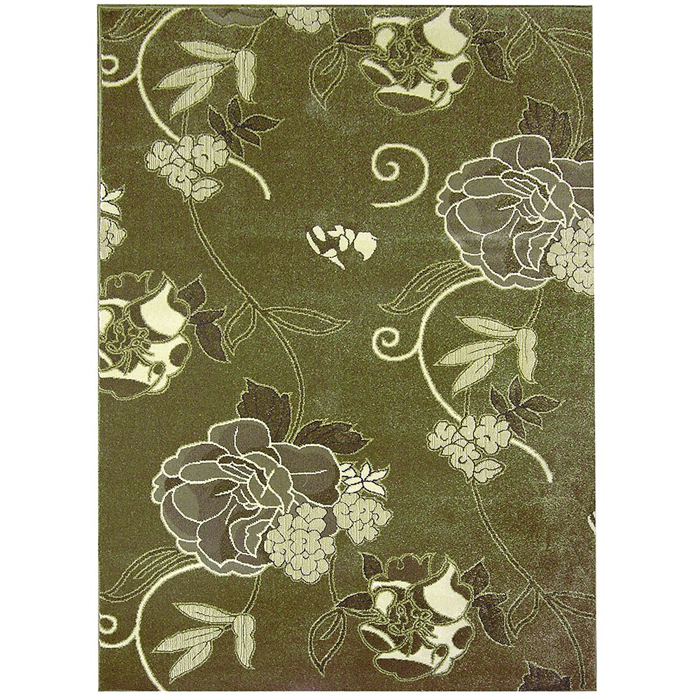 Lanart Rug Symphony Green 4 ft. 2-inch x 6 ft. Rectangular Area Rug