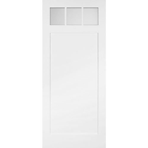42x84 3 Lite Craftsman Barn Door