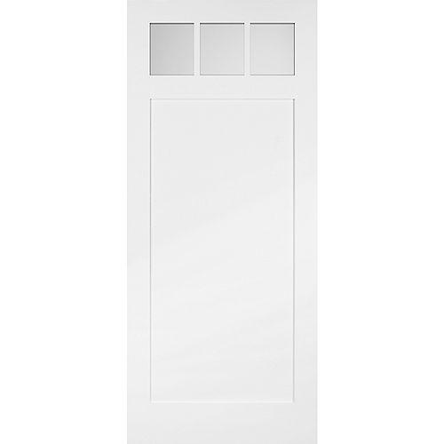 36-inch x 84-inch 3 Lite Craftsman Barn Door