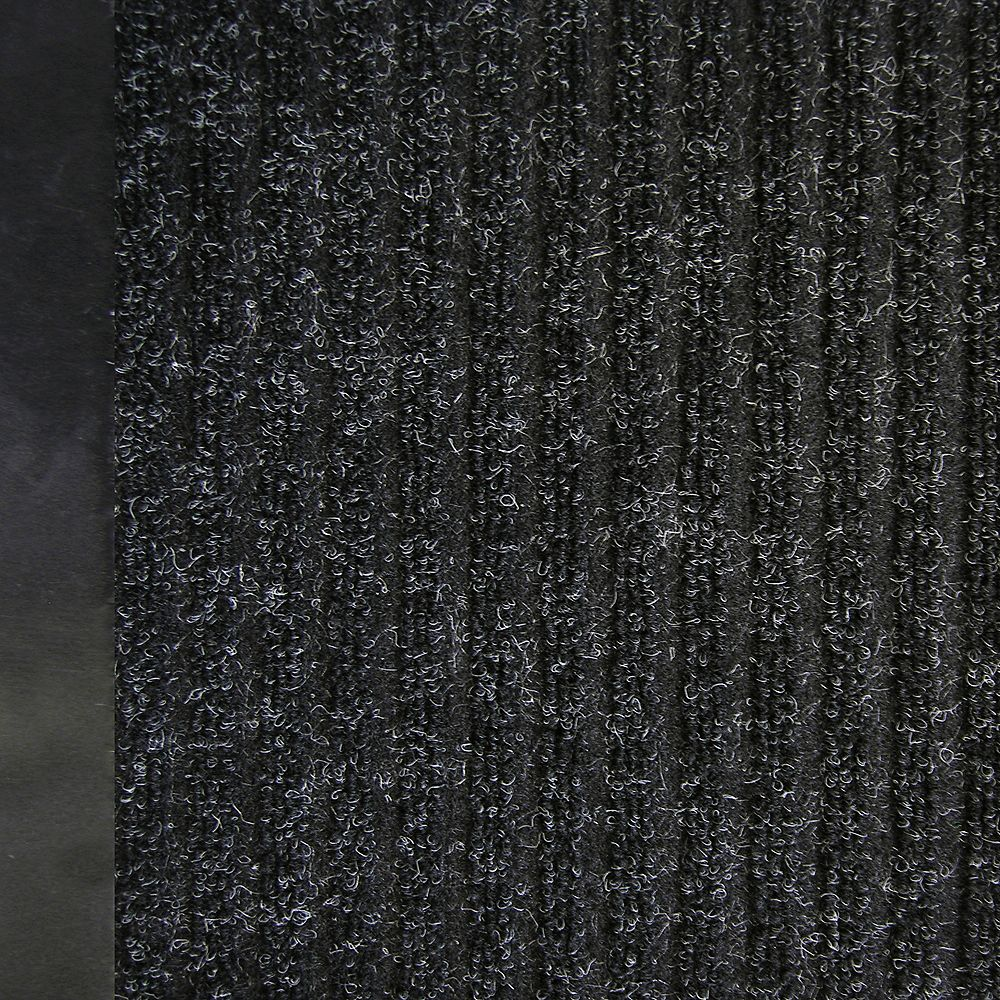 Lanart Rug Tapis de passage, 2 pi 2 po x 50 pi, noir Pioneer