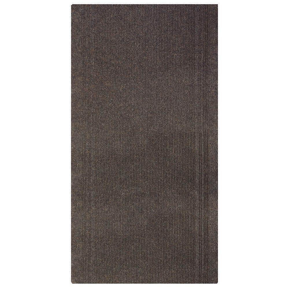 Lanart Rug Tapis de passage, 2 pi 3 po x 100 pi, brun Tracker