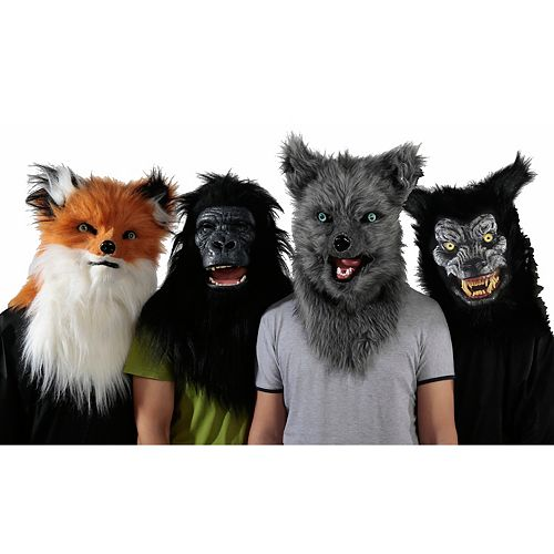 Assorted Animalistic Halloween Masks (Price Per Item)