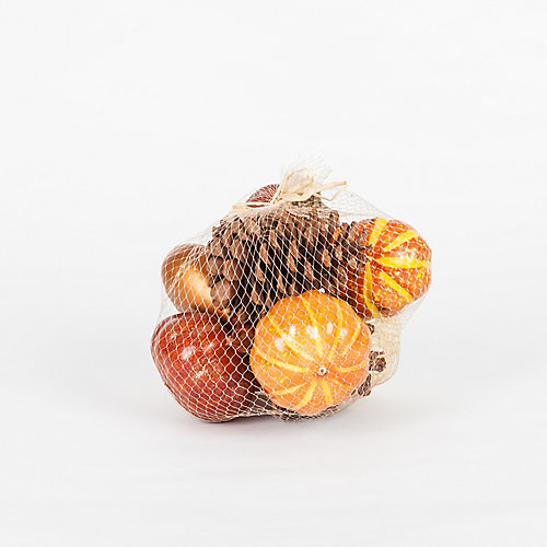 Pumpkin Vase Filler in Mesh Bag (3 Assorted Styles)