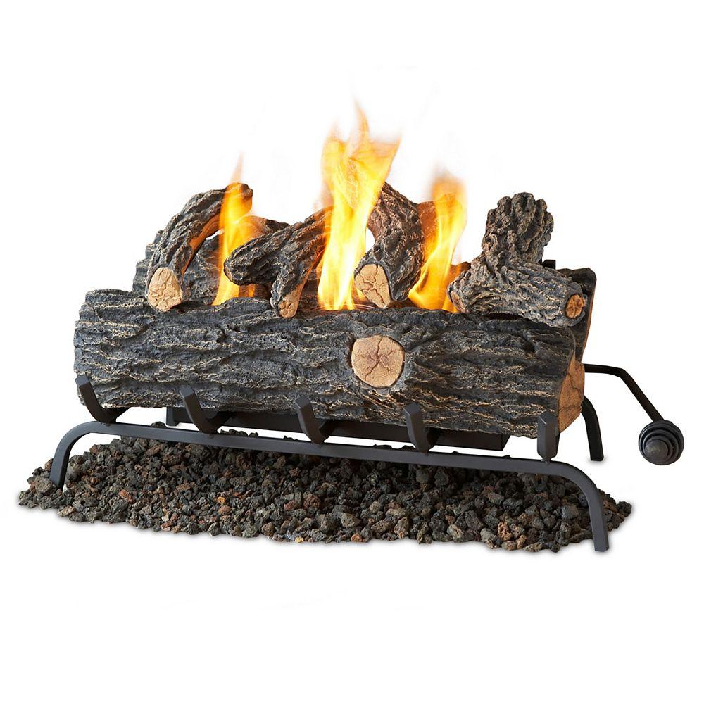 Real Flame 24 Inch Convert to Gel Fireplace Logs in Oak