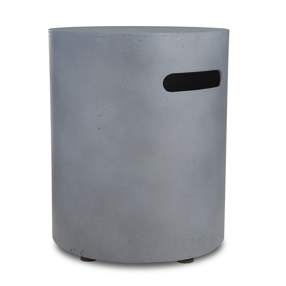 Real Flame Mezzo Round Propane Tank Cover in Flint Gray