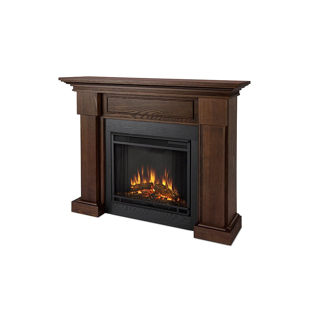 Real Flame Hilcrest Fireplace in Oak