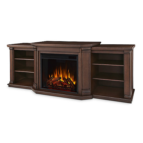 Valmont Media Console Electric Fireplace in Oak