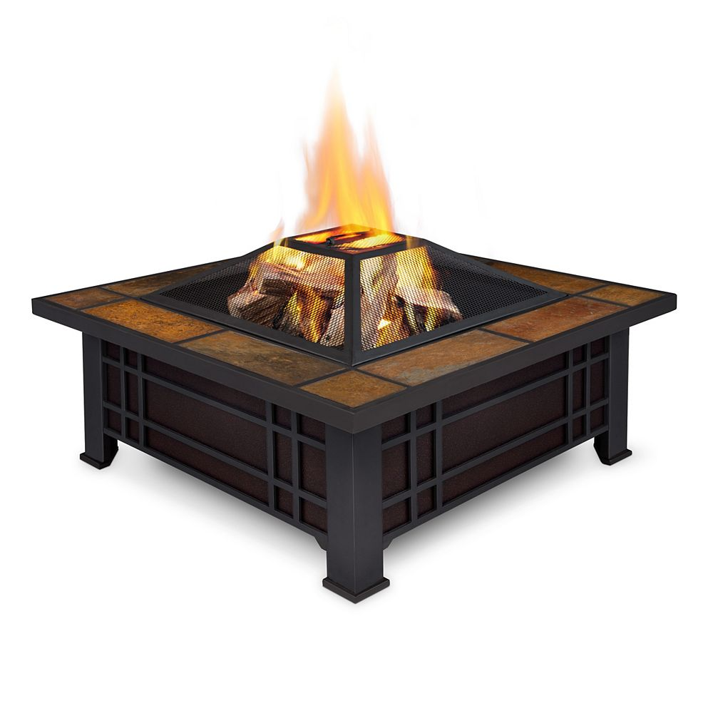 Real Flame Morrison 34-inch Wood Burning Fire Pit