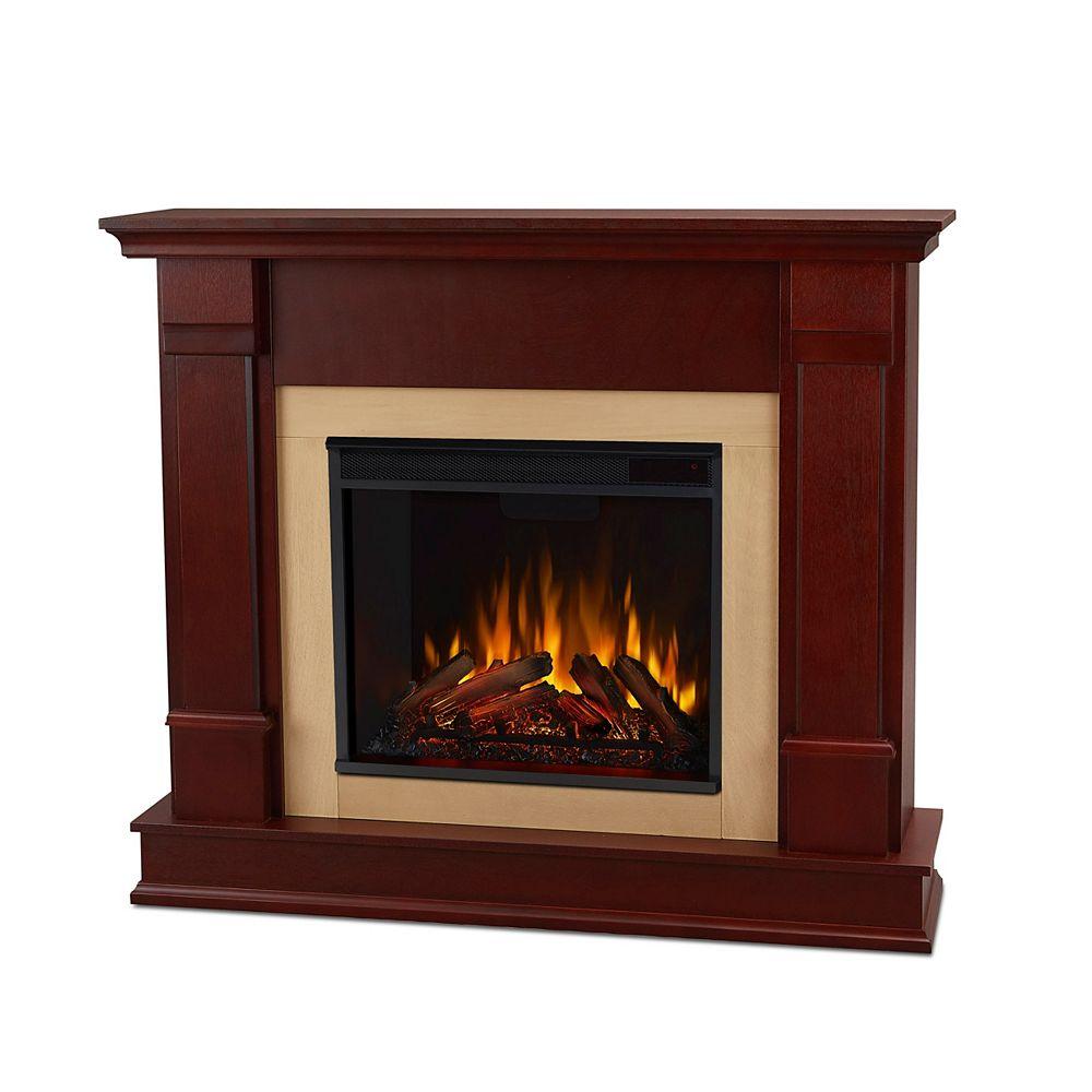 Real Flame Foyer électrique Silverton de couleur acajou foncé