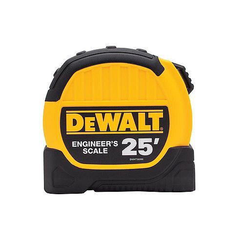 25 ft. x 1-1/8-inch Engineer Scale Tape Measure