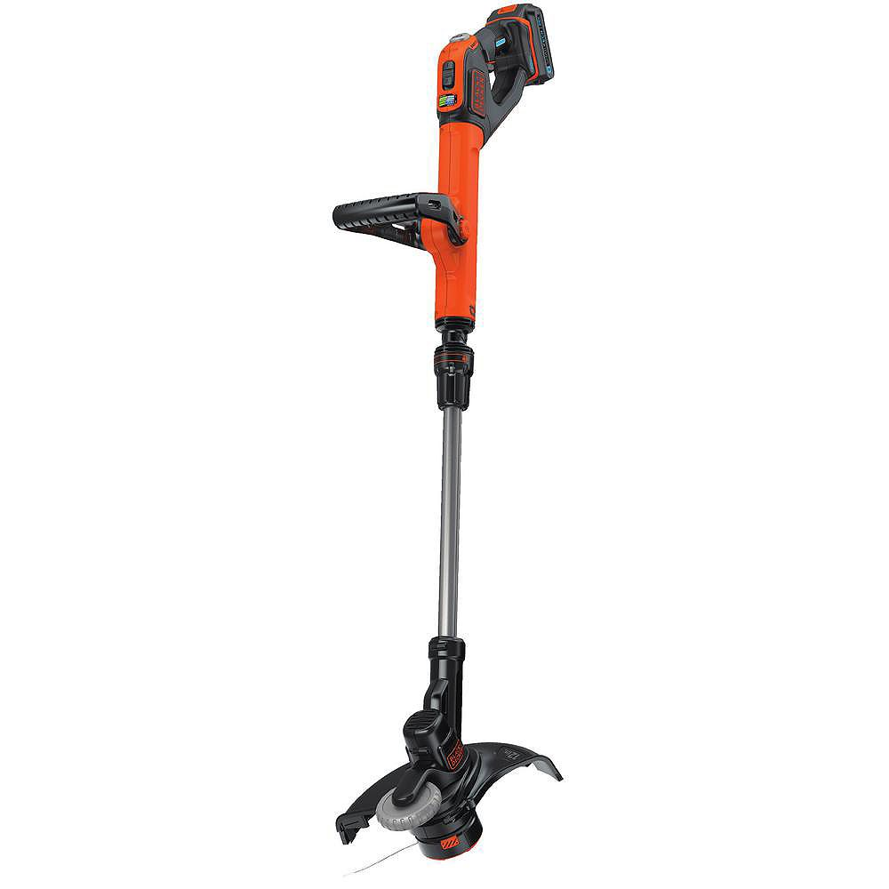 BLACK+DECKER SMARTECH 20V Max Lithium Ion Electric Cordless EASYFEED String Trimmer with (1) 1.5Ah Battery & Charger Included