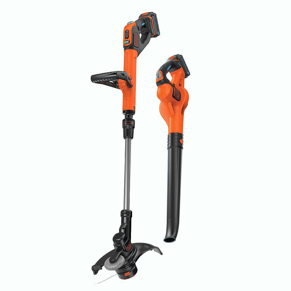 BLACK+DECKER 20V Max Cordless Lithium Ion String Trimmer/Sweeper Combo Kit (2-Tool)
