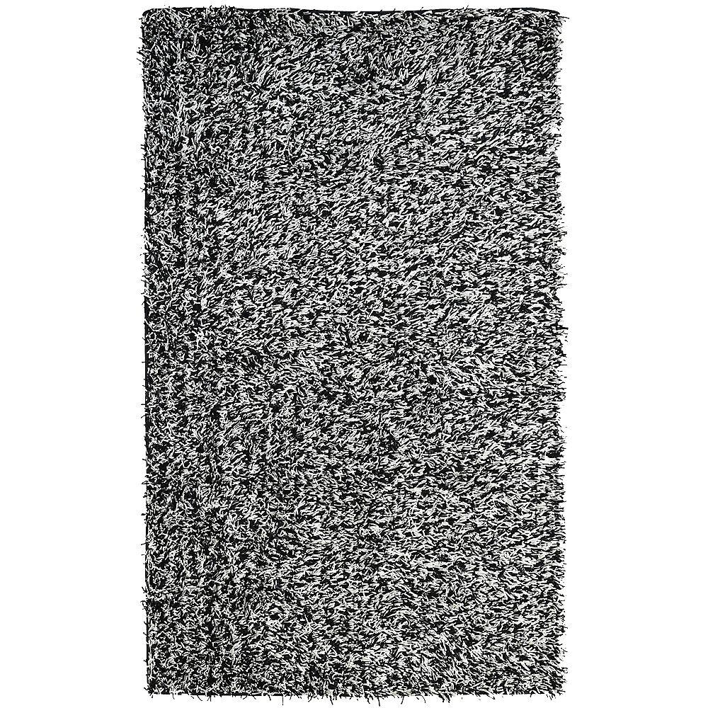 Lanart Rug Tuxedo Ribbon Grey 2 ft. 6-inch x 8 ft. Runner