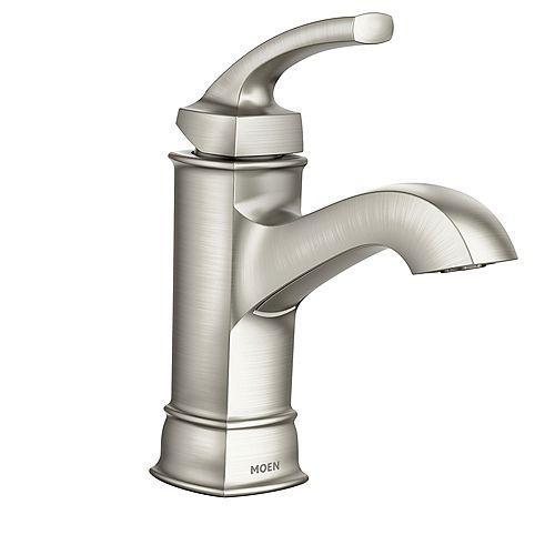 Hensley Single Hole Single-Handle Bathroom Faucet in Spot Resist Brushed Nickel