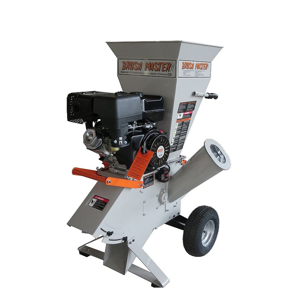 Brush Master 15 HP Gas Powered Commercial-Duty Chipper Shredder with 120V Electric Start