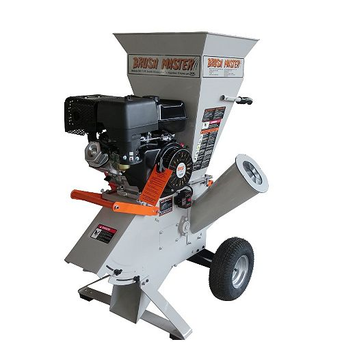 15 HP Gas Powered Commercial-Duty Chipper Shredder with 120V Electric Start