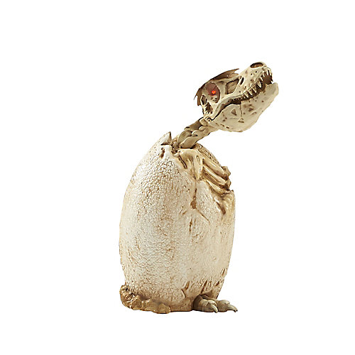 3 ft. LED-Lit T-Rex Hatching Baby Halloween Decoration