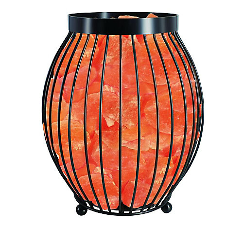 Lampe en cristal de sel panier ovale