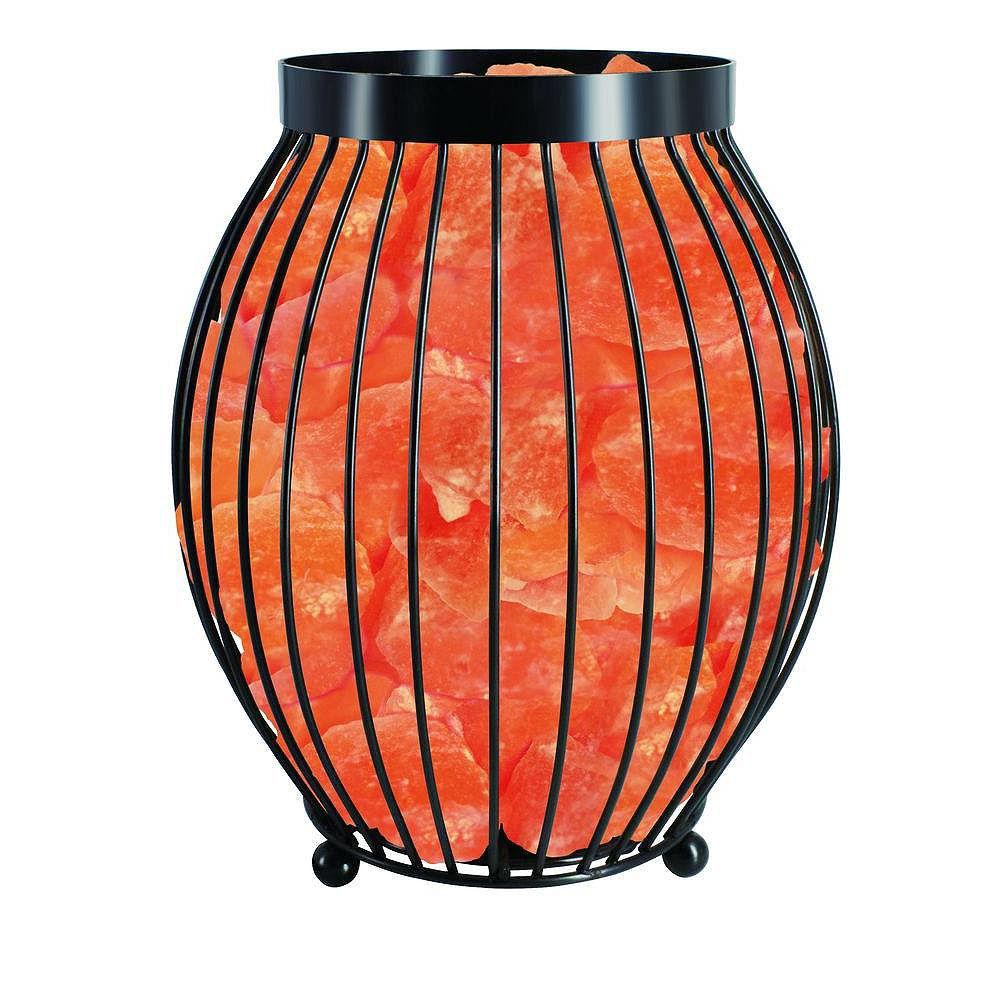 Himalayan Glow Lampe en cristal de sel panier ovale