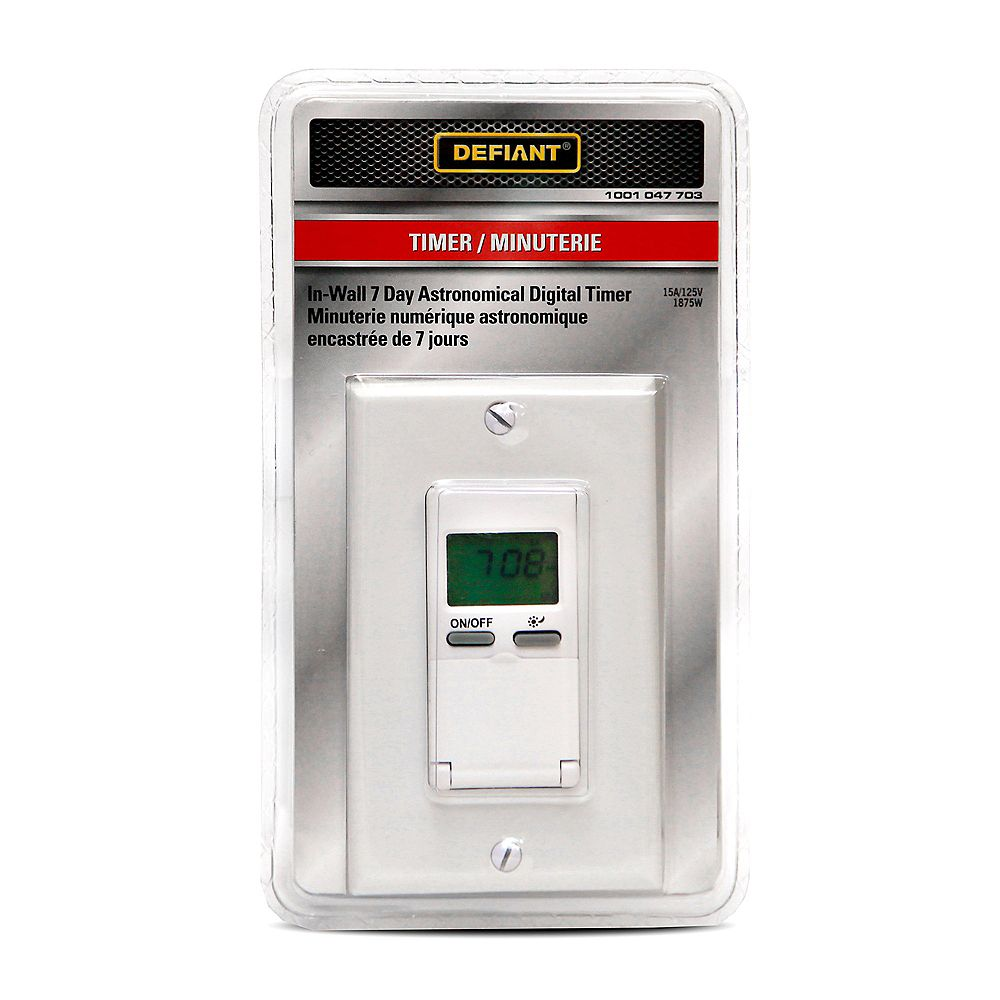Defiant In-Wall Astro 7-Day Digital Timer