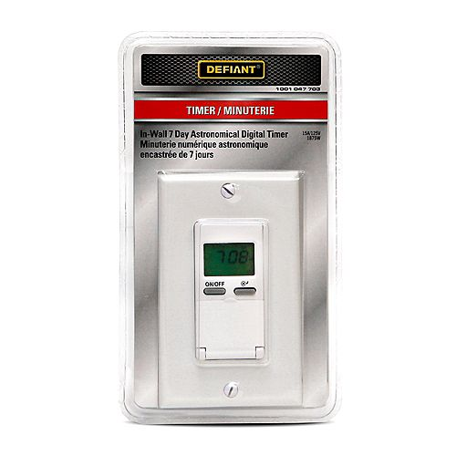 In-Wall Astro 7-Day Digital Timer