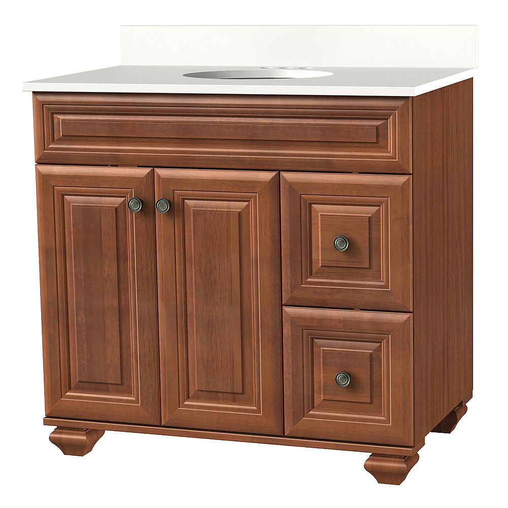 Home Decorators Collection 37 Inch W Brentstone Vanity Ensemble