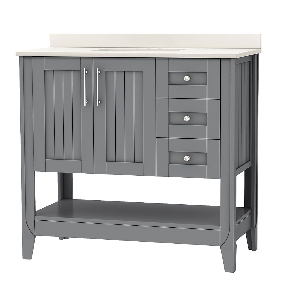 Home Decorators Collection 37 Inch W Cloverton Vanity Ensemble