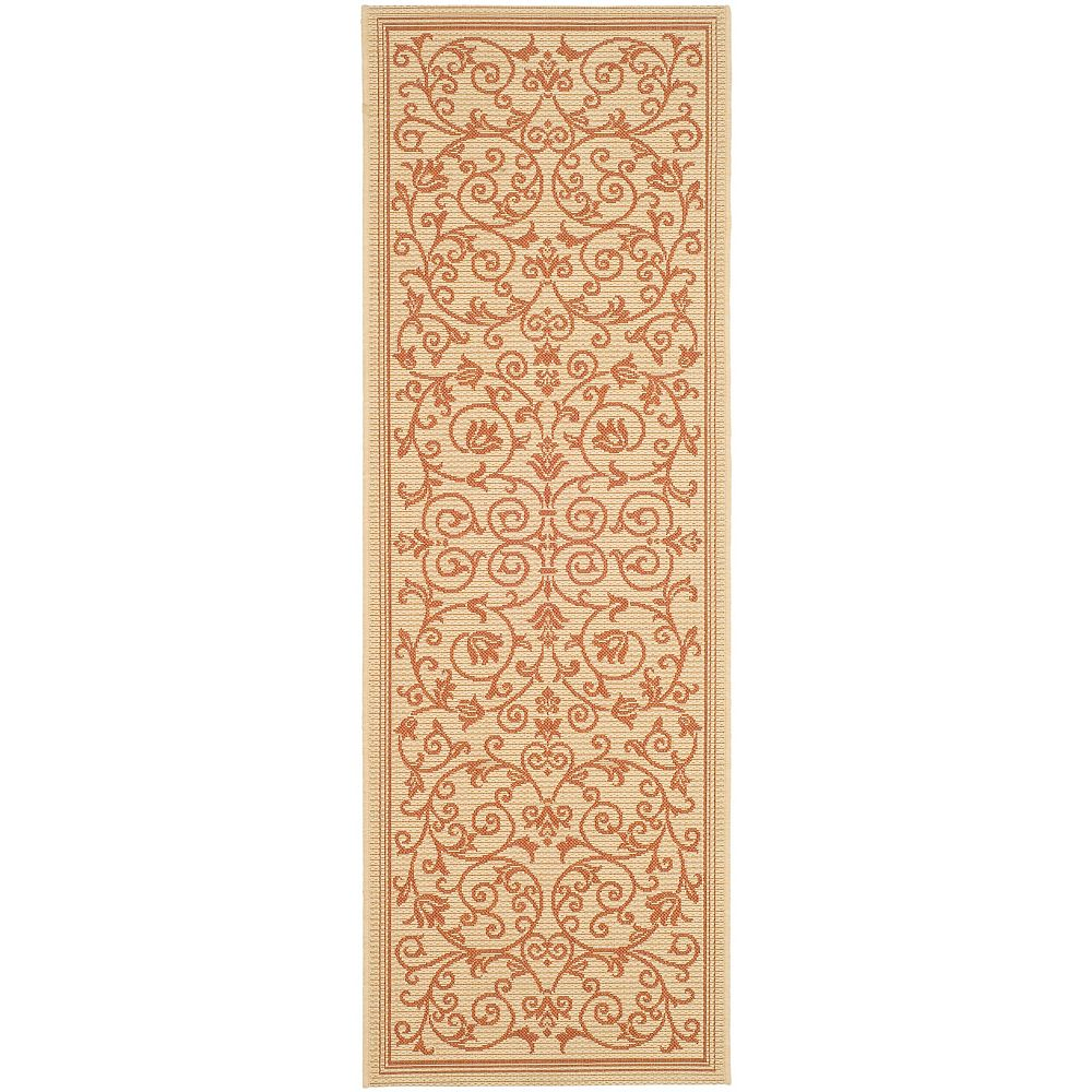 Safavieh Courtyard Marc Natural / Terra 2 ft. 3 inch x 10 ft. Indoor/Outdoor Runner