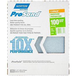 Papier de ponçage Norton ProSand 10X grain 100.Emballage de 20 feuilles.
