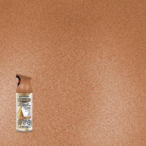 Rust-Oleum Universal Metallic Spray Paint And Primer in One in Copper Rose, 340 G Aerosol