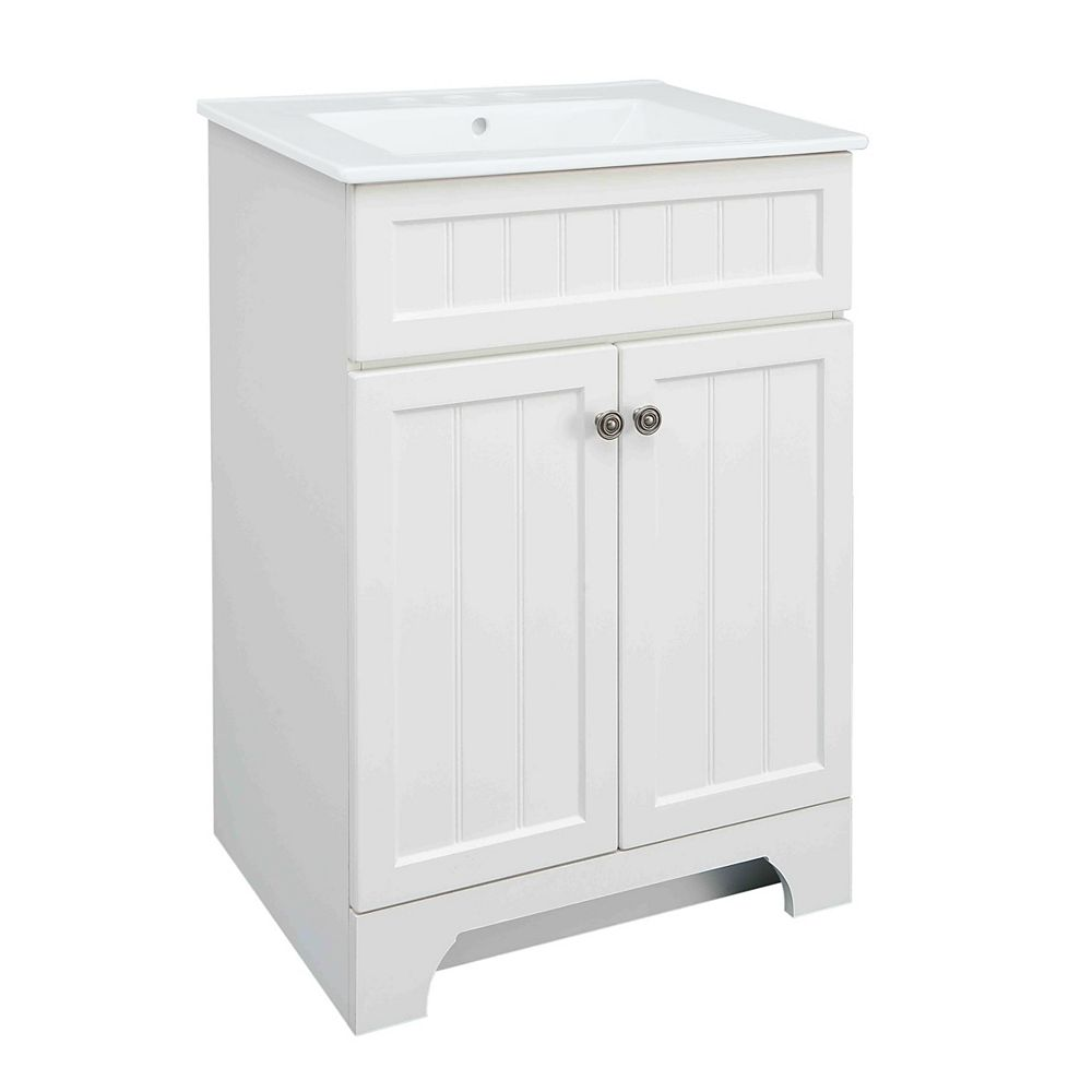 Glacier Bay Whitton 24-inch W Vanity Combo with White Vitreous China