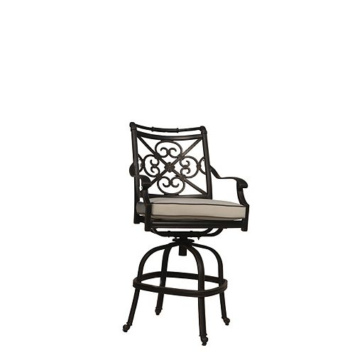 ONSIGHT Maxwell Patio Counter Bar Stool with Cushion