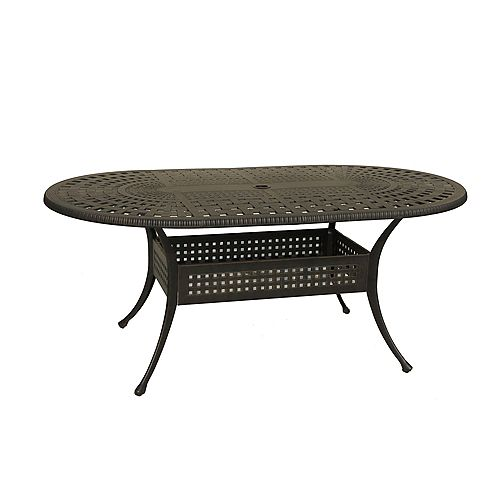 Maxwell 72-inch x 42-inch Oval Round Patio Table